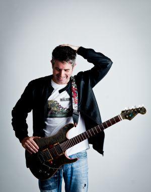 Cool Shot Of Mad Guitarist