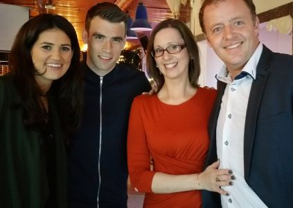 Wedding band Ireland with Seamus Coleman and Rachel Cunningham