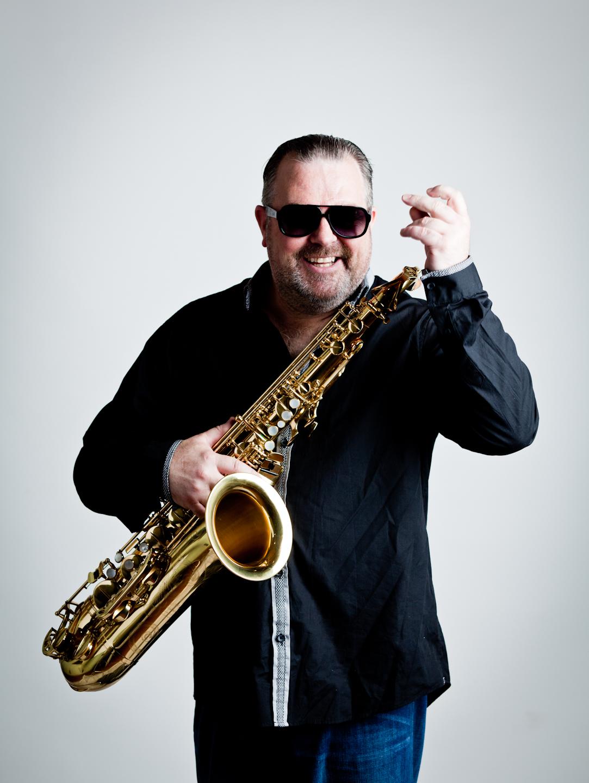Super Saxophonist Declan Whitston Harlquinband.ie